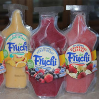 Clear stand up Frozen fruit smoothie pouch