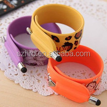 Hot Sale Touch Pen Soft Flexible Slap Bracelet With Touch Pen