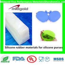 Silicone rubber materials for silicone cute purse with different colors