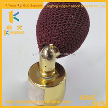 Hot sale!unique shaped golden fragrance powder spray frosted glass bottle