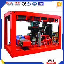High-pressure cleaning pumps with water medium