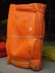 pp circular mesh bag/pp leno mesh bag /pp tubular mesh bag with lable