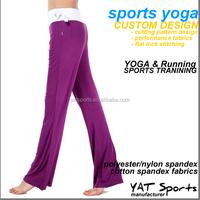Cotton spandex modal fabric Custom lady Yoga Pants