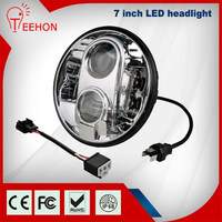 "2015 Hot Sale 9-36V 7"" Round LED Headlight for motorcycle, 7 inch Jeep Wrangler LED Sealed Beam Headlight"