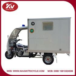 Guangzhou KAVAKI three wheel 150cc ambulance passenger tricycle for medical treatment