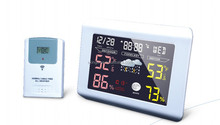 colorful weather forecast clock and RF digital clock