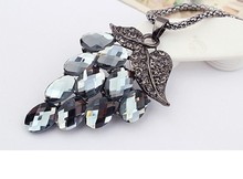 2015 European and American fashion style summer grape necklace metal zircon / necklace