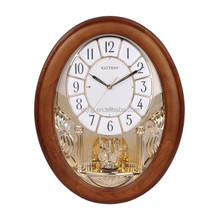 high-grade digital wall clock with pendulum GD506-1