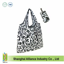 Eco Friendly Reusable promtion Bag Recycle Foldable Nylon Grocery Tote 6 Colors