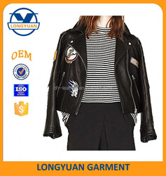 OEM service PU jacket clothing women jacket motorcycle