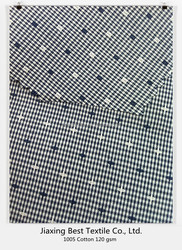 Cotton yarn dyed fabric /40s cotton poplin