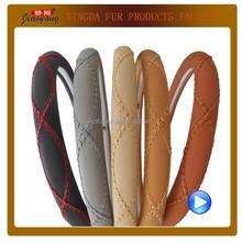 leather auto steering wheel cover/Auto Accessories