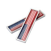 USA Metal national flag car sticker badge metal American flag auto logo emblem