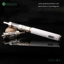 ShenZhen ego vapor supplier 2015 new vaporizer pen hot selling ego ii vapor battery from ego II Twist Mega kit 2200mah