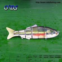 120mm 22g 6 section flexible jointed shad lure longline fishing gears