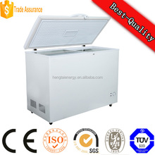 318L dc deep freezer suppliers, industrial storage freezer for sea food, solar power freeze producer