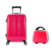 Stocklots Overstock closeout ABS PC trolley luggage, surplus travel hard cosmetic case bag,excess inventory makeup suitcase set