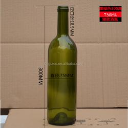 750ml black glass liquor bottles for vodka wholesale