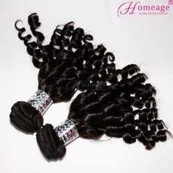 homeage High Quality Wholesale Natural Colour spring curl 100% Unprocessed Virgin Peruvian Hair In Stock