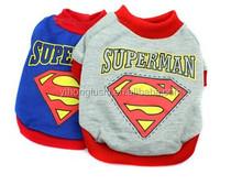 Hot Sale Pet The Spring/Summer Collection, Pet Superman T-shirts, Pet Warm Clothes