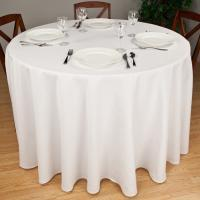 100% white cotton jacquard table cloth