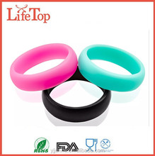 2015 Hot Sell Unique Custom Women Silicone Wedding Ring