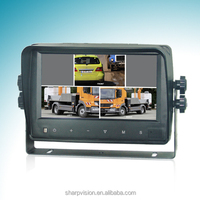 7 Inch Digital Color LCD Quad monitor with VGA input