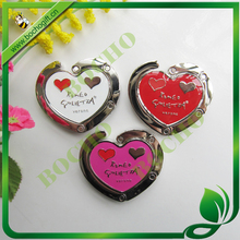 foldable metal bag hanger heart shape