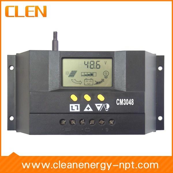 интеллигентая(ый) ШИМ контроллер заряда 30А 48v с ЖК-дисплеем, ce, rohs, Солнечный регулятор