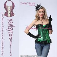 Shinning colorful women sexy style locking corset