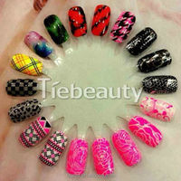 Tiebeauty 2d or 3d nail sticker, 2015 nail design EP series