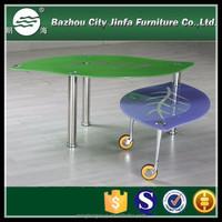 Leaf Shape Coffee Table,Movable Coffee Table MCT-2168