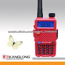 Dual Band! 136-174 400-4800 MHz 128channel 5w mejor rojo 2 way radio KL-Y3