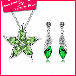 indian most fashionable high end cheap crystal imitation antique star charms jewellery bridal sets