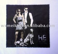 custom print microfiber glasses cleaning cloth with pp bag