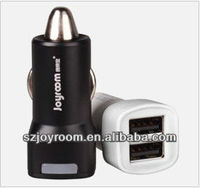 Micro multiple mobile phone car charger with 2 usb interfaces