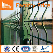 Road Wire Mesh Fence Panels / Green Garden Fence/plastic coated curvy fence panels