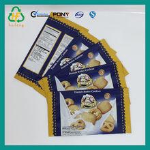 nuevo producto de la bolsa de plástico para cookies sabrosos
