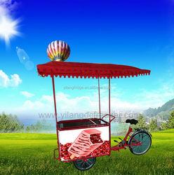 Ice cream tricycle/trike/cart with solar powered freezer,solar bicycle freezer refrigerator ,12v/24v DC fridge popsicle cart