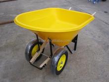 large american two wheel garden wheel barrow