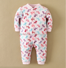 2015 New style baby's organic cotton allover print romper China clothing wholesale price