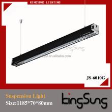 Negro reja de hierro iluminación en China fluorescente comercial luminaria