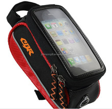 Bicycle Frame Pannier and Front Tube Sport Cell Phone Bag For Iphone 6
