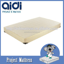 High Quality Box Spring Wood Bed Frame Foam Sponge Mattress For Hotel Furniture