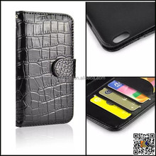 Genuine 100% real Leather Wallet card holder stand phone case for iphone 6