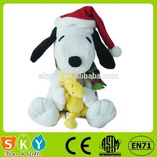 Navidad juguetes de peluche de felpa chrismas regalo perro relleno juguete de felpa
