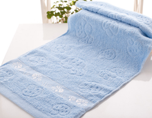 ST-1003-7,cotton terry solid dying face towel