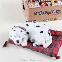 battery operated looks real plush and plastic fake fur sleeping dog