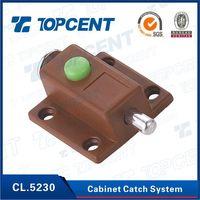 furniture hardware plastic and Iron locking magnetic cabinet door latch
