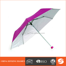 silvery UV HIGH QUALITY folding manual UMBRELLA 3050m